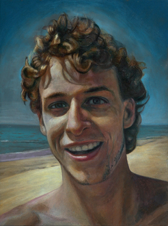 "Beach Boy (""Sunny""), 2016. (Acryl/HDF, 24 x 18 cm)"