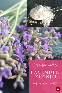 Lavendelzucker selber machen #lavendel #gewürze #aroma #thermomixrezepte