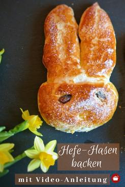#Osterhase aus Hefeteig #ostern #hefegebäck #hefeteig