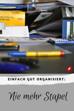 Nie mehr Stapel #gutorganisiert #ablage #büroorganisation