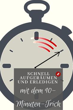Schnell #aufräumen und #erledigen mit dem #10minuten #organisieren #ordnung #ordnungschaffen