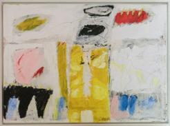 "Hans Mendler ""cant buy my love"" 2. 7. 1999, 110 x 79 cm Acryl auf Leinwand. Preis: 2500.-€"