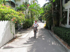 mit dem Fahrrad durch Key West