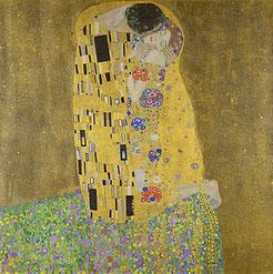 Der Kuss – Liebespaar Gustav Klimt, 1908/09 Öl auf Leinwand 180 × 180 cm Österreichische Galerie Belvedere, Inv.-Nr. 912