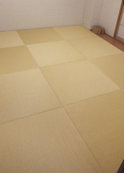 施工後:半畳縁なし琉球畳