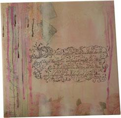 Kalligrafie Collage mit Schnörkeln