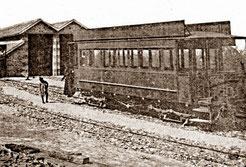 Le tram fantôme sur ses rails à Nacqueville