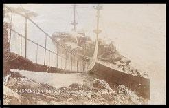 The Suspension Bridge to the wrecked H.M.S. Montagu.