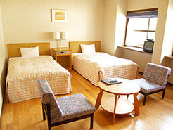 広島YMCA 宿泊 研修 合宿 ヴォーリスロッジ洋室ツイン