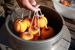 ころ柿剥き ころ柿作り