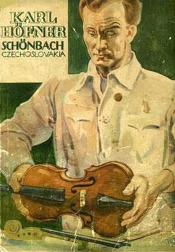 скрипичный мастер со скрипкой Karl Hofner, Германия Чехословакия купить