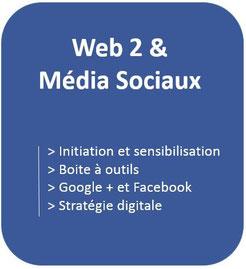 formation en stratégie digitale, média sociaux avec Facebook, Google plus, Pinterest, Instagram, flipboard, scoopit, youtube,....