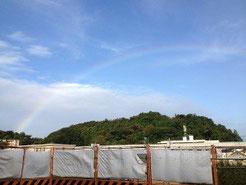 久しぶりの虹でした