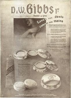 Publicité de 1915