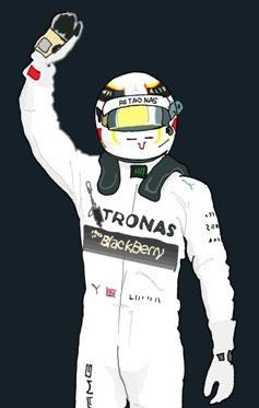 Helmet of Lewis Carl Hamilton by Muneta & Cerracín