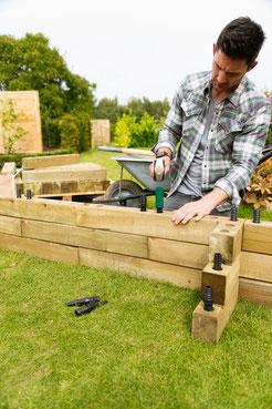 ©WoodBlocx, construction d'une jardinière simple