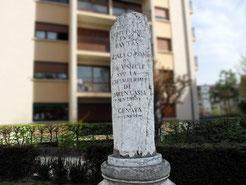 La colonne place des Romains à Annecy