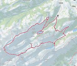 Karte von Alpstein Tour