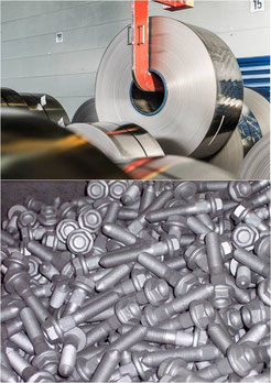 Solvent-based silver zinc flake coating for industrial use for small parts and coil