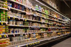 Plastikverpackungen im Supermarkt