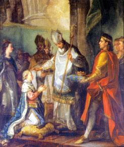 Le Sacre de Louis IX - Charles-Amedee Van Loo.