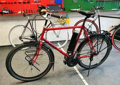 Fahrrad mit Pendix Antrieb zum Pedelec aufgerüstet