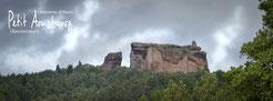 Ansicht Chateau de Fleckenstein; Lembach; Alsace; Chambres d'Hotes Petit Arnsbourg; Ferienzimmer; Ferienwohnung; Pension; Bed & Breakfast; Karin; Marcel van Eekelen; Obersteinbach; Urlaub; Wandern; Klettern; Mountainbike; Reiten
