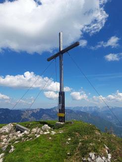 Gipfelkreuz Hoher Kalmberg bei Bad Goisern in der Region Dachstein Salzkammergut