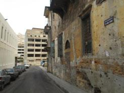 Eines der vielen beschossenen Häuser in Beirut