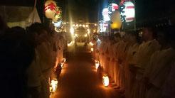 佐倉の秋祭り 宮入り後