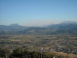 Vista sulla Val d'Agri
