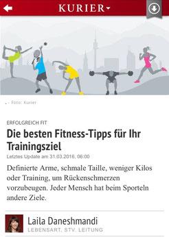 KURIER - Die besten Fitness-Tipps für Ihr Trainingsziel