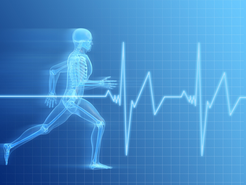 Electrical pulse, running x-ray person with high energy