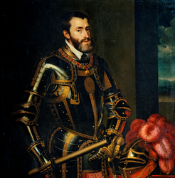 Charles-Quint par Juan Pantoja de la Cruz, inspiré sur Tiziano Vecellio. (Source : English Wiki)