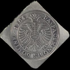DA PACEM NOBIS DOMINE 1704  = Gib uns Frieden, Herr - 1704 In der Mitte befindet sich der Reichsadler.