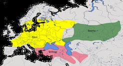 Karte zur Verbreitung der Schafstelze Typ Superciliaris (Motacilla flava superciliaris)