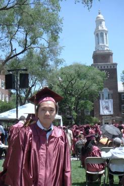 森田槙、ニューヨーク市立大学卒業式