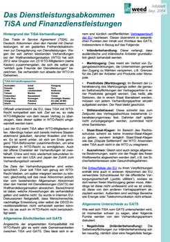 PDF-Download - Das Dienstleistungsabkommen TiSA und Finanzdienstleistungen