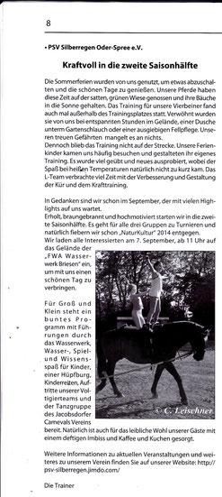 """""""Odervorland Kurier"""", September Ausgabe 2014"""