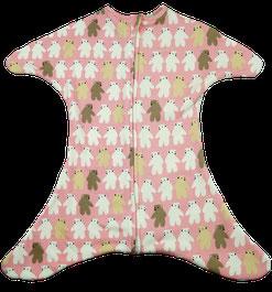 Babyschlafsack mit vielen kleinen Sternen lila