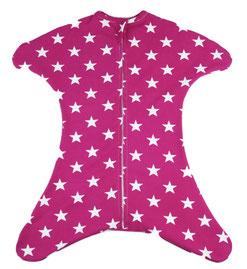 Babyschlafsack in pink mit Sternen Muster