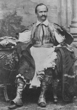 Othon le Bavarois en tenue traditionnelle Grecque...