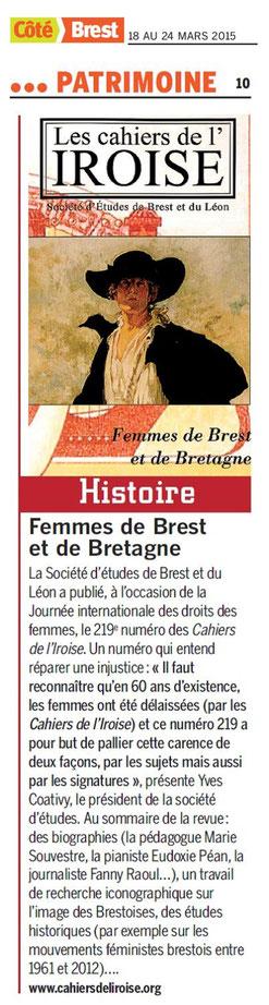 Côté Brest, du 18 au 24 mars 2015