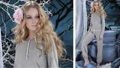 Loungewear aus Organic Cotton in hellgrau S - XL Pants 59,- und Oberteil 49,-