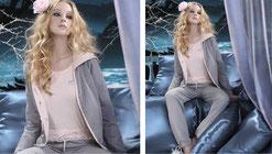 Lounge-Anzug in hellgrau S - XL, Pants 59,- Poloshirt  oder  Longshirt je 59,- und Cardigan 79,-