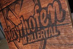 Bedrucktes Holz, Holzdruck, Mayrhofen