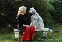 Karin mit Europasiegerin Lady Bijou by white Angel im Gespräch