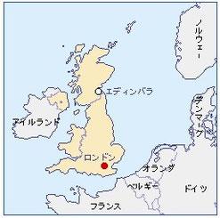 アイルランドの位置 地図
