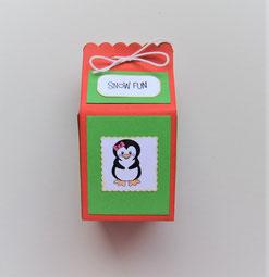 Geschenkbox Milchtüte mit Weihnachtsmotiven