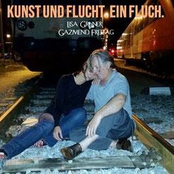 Gazmend Freitag, Lisa Grüner: Performance auf Schienen in Linz, 2015